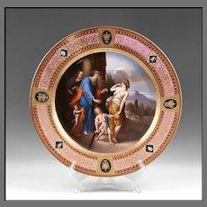 Hand Painted Royal Vienna Charger Titled Verstosung der Hagar