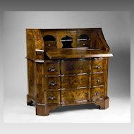 18th C. Northern Italian Olive Wood Slant Front Bureau Desk