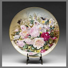 Hand Painted 19th C. Paris Porcelain Wall Charger