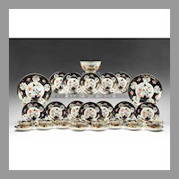 Late 19th C. Japan Pattern Coalport Dessert Set, 39 Pcs.