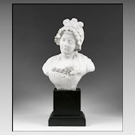 Samson & Cie French Biscuit Porcelain Bust After D. Greuze