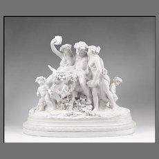 19th C. Glazed Italian Terracotta Allegorical Sculptural Grouping