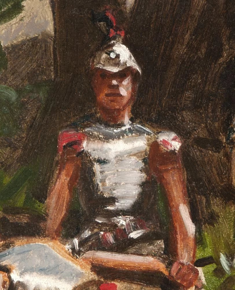 Oil Painting Of Roman Soldiers After Gilbert Gaul Pia S