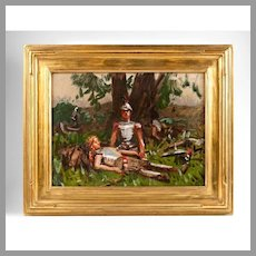 Oil Painting Of Roman Soldiers, After Gilbert Gaul