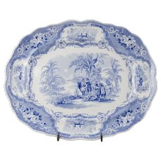 Early 19th C. William Adams & Sons Platter