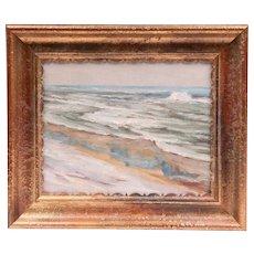 Walter Emerson Baum Oil On Board, Beach At Barnegat