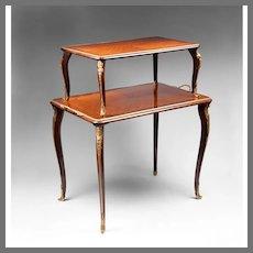 Louis XV Style Two Tier Tea Table Etagere Ormolu Mounted