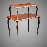 Louis XV Style Two Tier Tea Table Etagere Ormolu Mounted