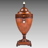 George III Late 18th C. Satinwood Cutlery Urn