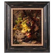 19th C. Oil On Board Still Life With Game by Jean Baptiste Robie