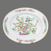 19th C. Copeland Well And Tree Meat Platter