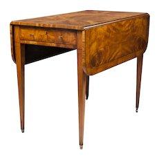 George III English Pembroke Satinwood Table, Circa 1800 – 1830