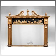 English Neoclassical Regency Gilded Mantel Mirror, 1810-20