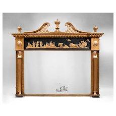 English Neoclassical Regency Gilded Mantel Mirror, 1810-20