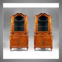 Pair of 19th Century Northern Italian Corner Cabinets