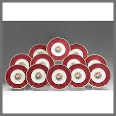 Set Of 12 Cauldon China Service Plates