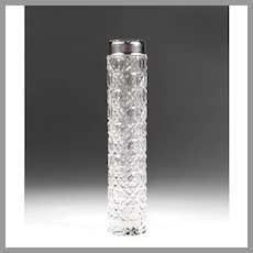 Early 20th C. Whiting Sterling & Cut Glass Scent Bottle