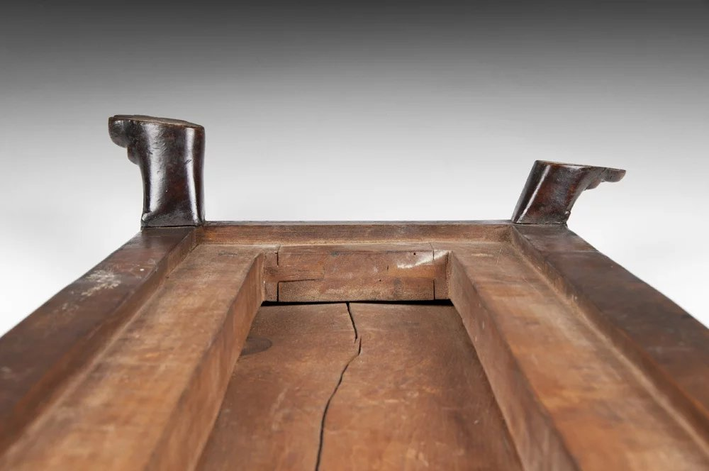 Late 19th C English Carved Fireplace Fender Stool With