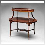 19th C. English Regency Tiered Tea Table