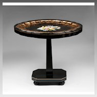 English Papier Mache Tray With Pedestal Stand