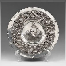 19th Century German Silver Charger