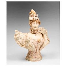 Royal Rudolstadt Bust Of Sarah Bernhardt