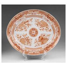 1820 Orange Fitzhugh Platter
