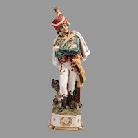 Capodimonte Porcelain Soldier of General Marceau