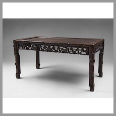 Chinese Carved Hardwood Low Table