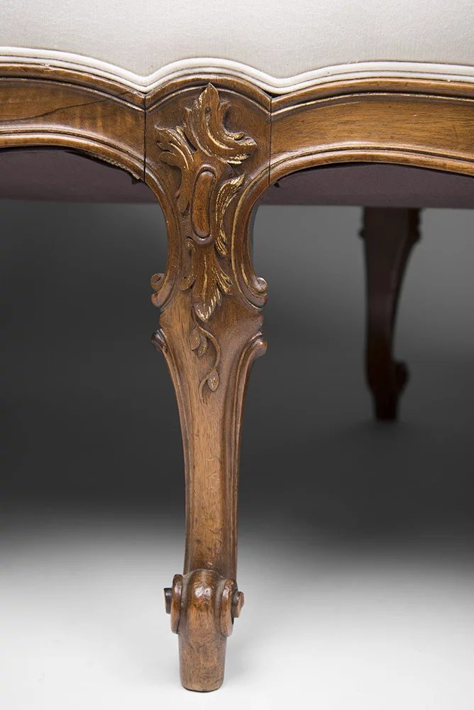 19th C Hand Carved French La Duchesse Brisee Or Chaise