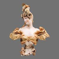 1900 Teplitz Hand Painted Porcelain Bust