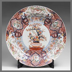 Massive Chinese Export Imari Charger With Stand
