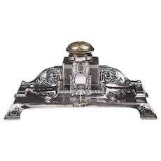 Art Nouveau English Standish Or Inkstand