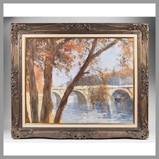 Impressionist Oil On Canvas by Pal Fried