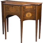 George III Inlaid Sheraton Lowboy or Dressing Table