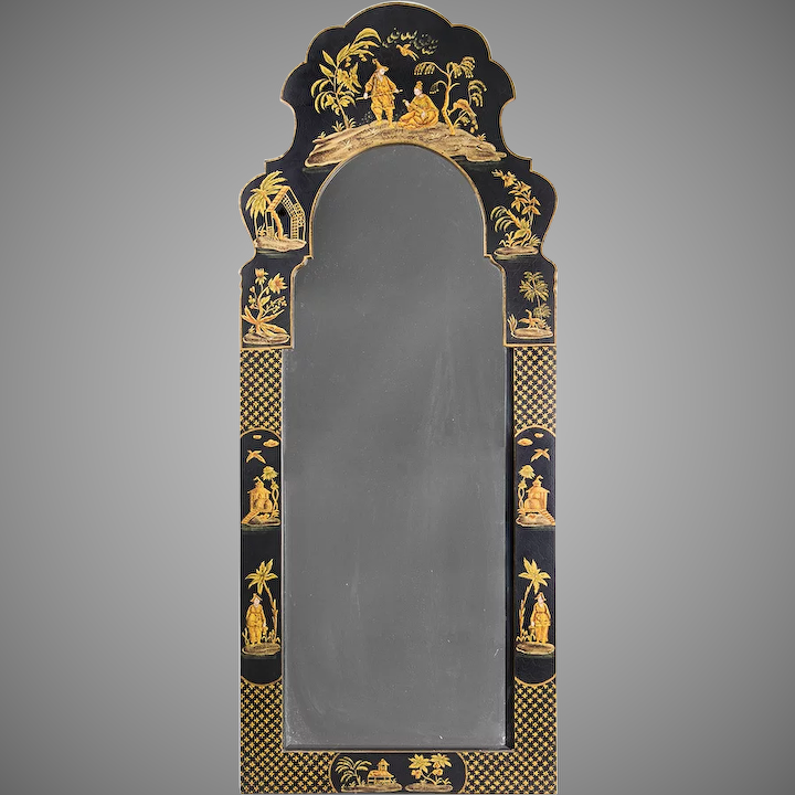 Friedman Brothers Dutch Queen Anne Style Chinoiserie Mirror : Piau0027s Antique  Gallery | Ruby Lane