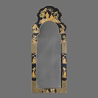 Friedman Brothers Dutch Queen Anne Style Chinoiserie Mirror