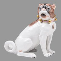Dresden Porcelain Pug By Carl Thieme