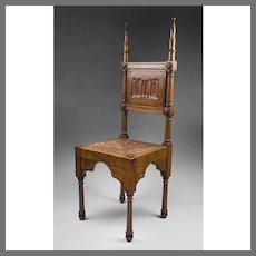 19th C. English Walnut Hall Chair