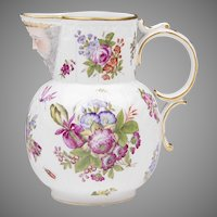 Bourdois & Bloch Hand Painted Paris Porcelain Pitcher With Face Mask