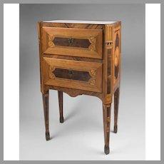 18th C. Neoclassical Northern Italian Maggiolini Style Commodino or Commode