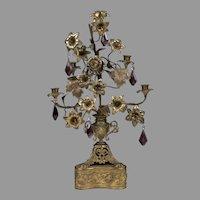 19th C. French Gothic Bronze Altar Candelabra
