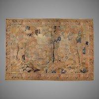 Large 19th C. Flemish Landscape Hand Made Tapestry