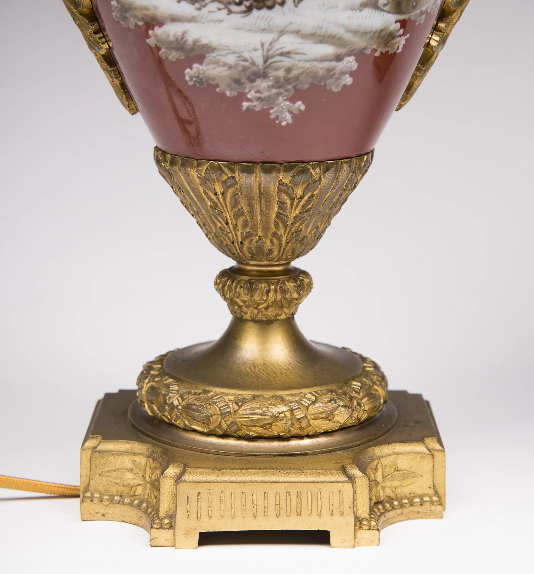 19th C. Neoclassical Pairs Porcelain Ormolu Mounted