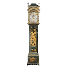 Late 18th C. Japanned Longcase Grandfather Clock By Thomas Butterfield