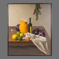 Contemporary Still Life, Oil On Canvas By Snowdon
