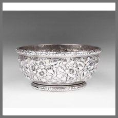 1884 Howard & Co., Sterling Repousse Bowl, With William Astor Dedication