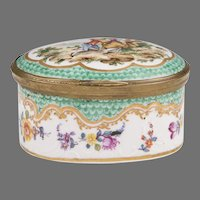 19th C. Sevres Style French Hand Painted Porcelain Trinket Box
