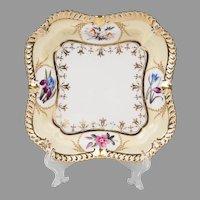 1820 Chamberlain Worcester Square Dish, Regent Body