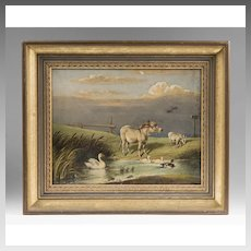 19th C. Oil Painting On Canvas, Edward Lloyd, 1894